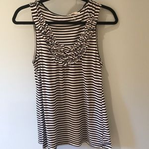 Urban Outfitters cute striped T-shirt with ruffle